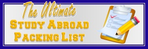 The Study Abroad Packing List - What to Pack: The Study Abroad Blog - The Study Abroad Blog