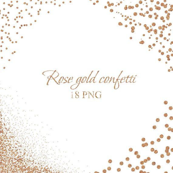 This Item Is Unavailable Etsy Rose Gold Confetti Glitter Frame Glitter Overlays
