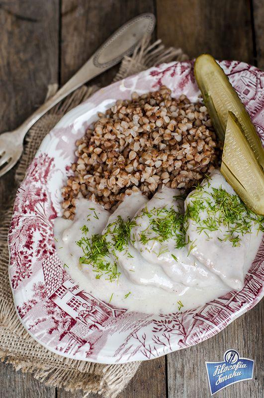 Kotlety wieprzowe w sosie chrzanowym