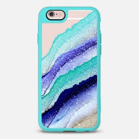 FLAWLESS WAVES AQUA & BLUE by Monika Strigel iPhone 6 case by Monika Strigel   Casetify