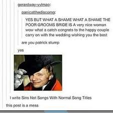 fall out boy tumblr post funny - Google Search