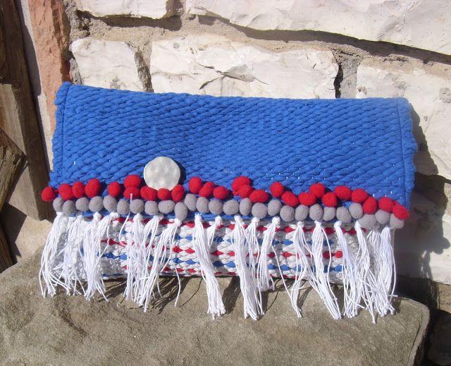 weaving wall art and bags:     Υφαντό χειροποίητο τσαντάκι χειρός διαστάσεων ...