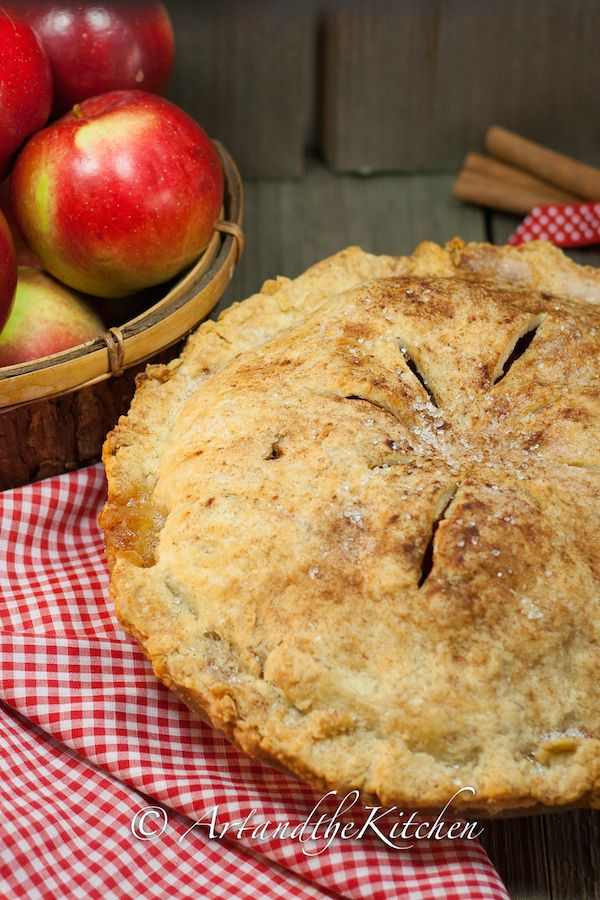 (Canada) ArtandtheKitchen: Grandma's Old Fashioned Apple Pie, the best ever flakiest pie crust with a delicious fresh apple filling!