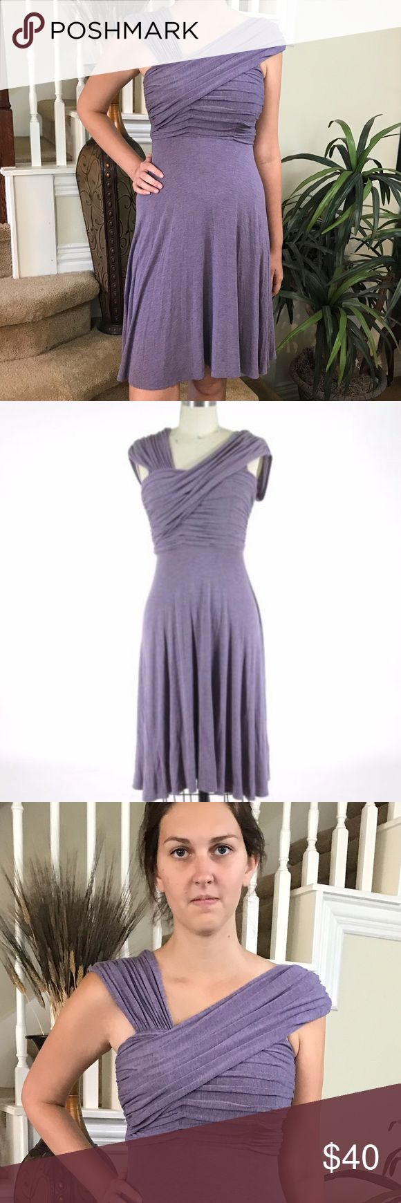 Anthropologie Plenty by Tracy Reese Dress This Anthro Plenty by Tracy Reese is stunning with its draping abstract neckline, comfort knit and in a beautiful soft purple. Plenty by Tracy Reese Dresses