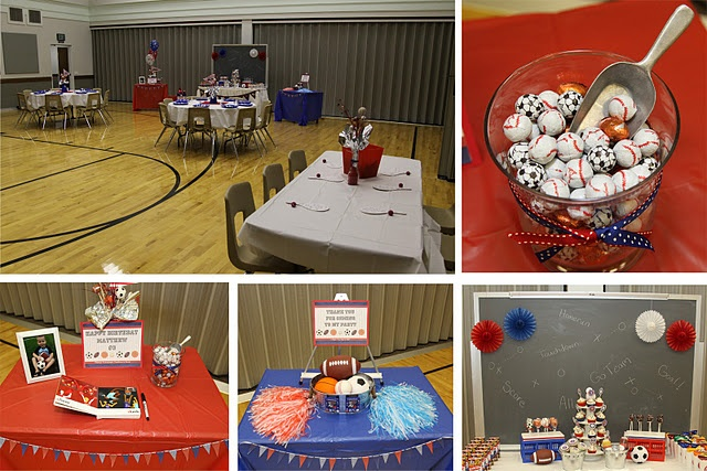 fun: Sports Party, Party'S, American Sports, Parties, Kids, Party Ideas, Birthday Party, Birthday Ideas