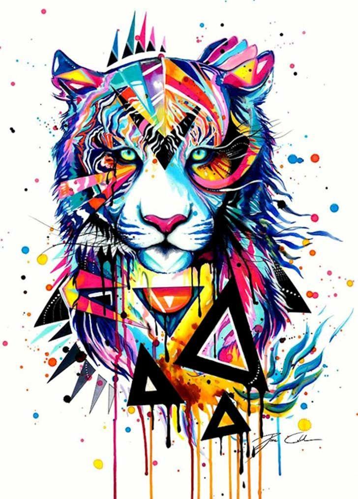 1000 ideas sobre dibujo de tigre en pinterest dibujos - Ver colores de pintura ...