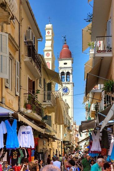 Busy Corfu Lane