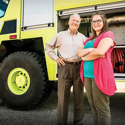 Two graduates generations apart are among several hundred from FVTC impacting Oshkosh Corporation.
