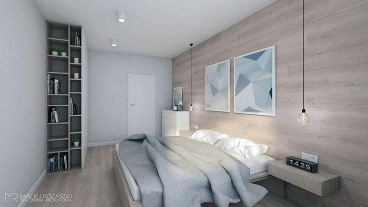 mieszkanie w stylu nowoczesnym, nowoczesna sypialnia, projektowanie wnętrz Lublin, Maciej Różański Pracownia Projektowa