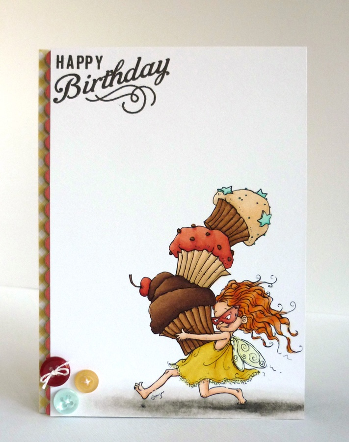 Alice's {Little} Wonderland: Cupcake thief: Alcohol Markers, Butterfly Cards, Cards Birthday, Birthday Cards, Gift Cards, Card Making, Copic Markers, Digital