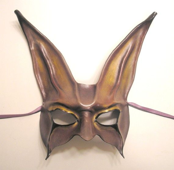 dark carnival leather rabbit mask...i can't help but think of donnie darko