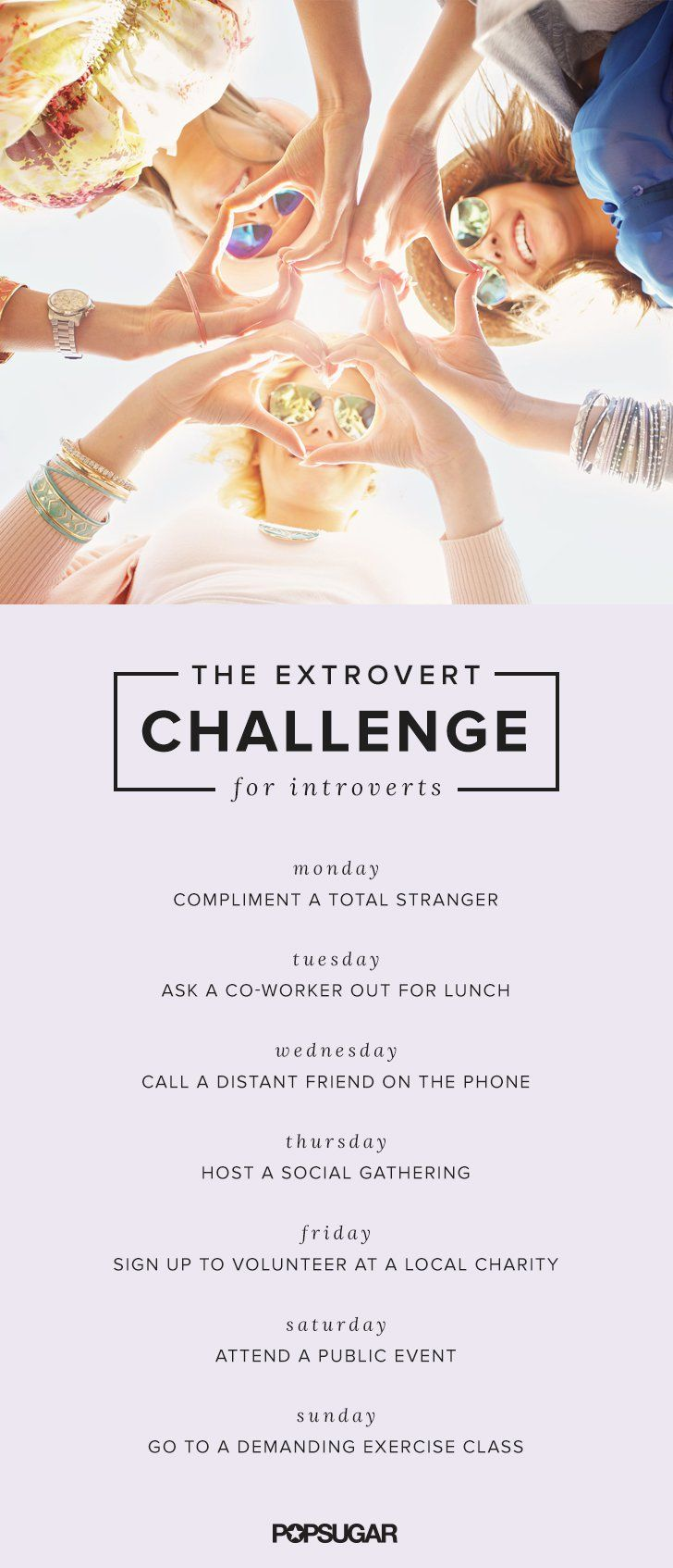 Pin for Later: This 7-Day Extrovert Challenge Will Help You Overcome Social Anxiety