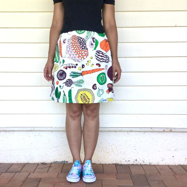 Vegorama ladies skirt from Kablooie Store - bold, colourful, quirky fashion for ladies! Be fabulous!!