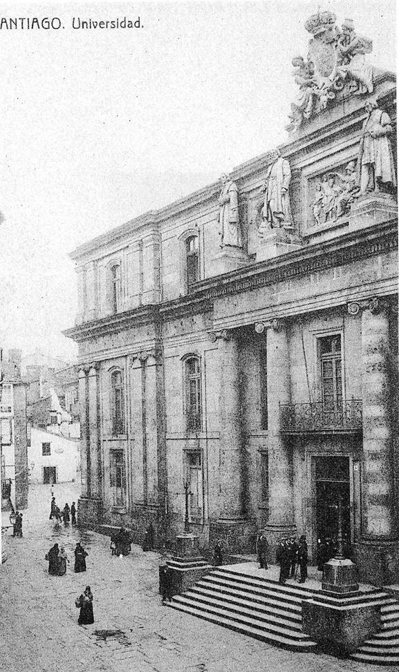 Facultad de Derecho de Santiago, donde estudiaron los troyanos; y en la que hoy se imparte la carrera de Geografía e Historia.