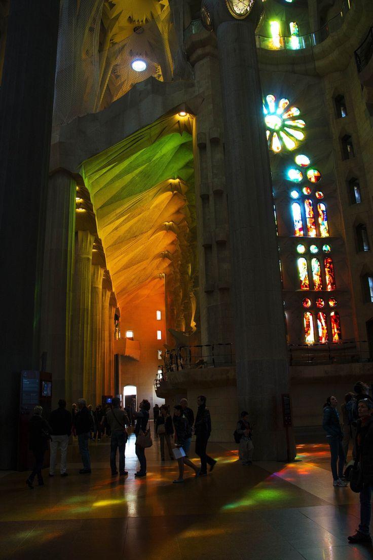 Rainbow, shadows, light, illuminate, shine, church, creative