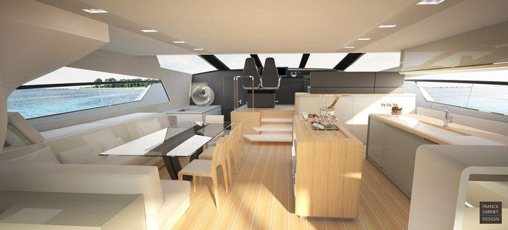 Intérieur signé Franck Darnet Design, clair, fonctionnel et raffiné.