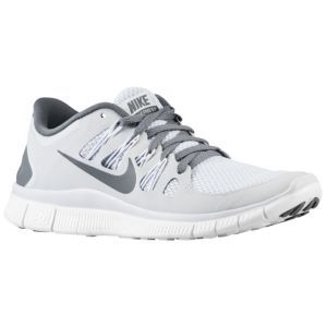 white and grey nike free run 5.0