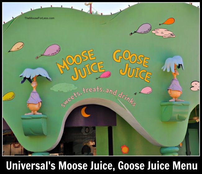 Moose Juice Goose Juice Menu Islands Of Adventure Universal Orlando Juice Menu Universal Orlando Islands Of Adventure