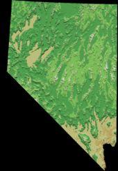 ネバダ州の標高図ーネバダ州 - Wikipedia