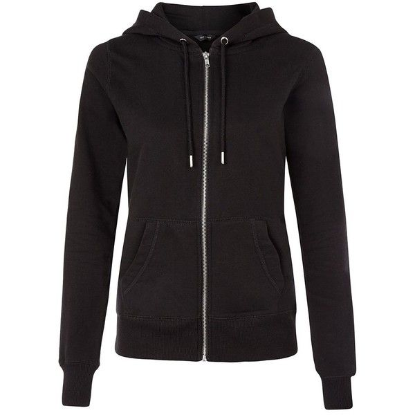 New Look Black Basic Zip Up Hoodie ($22) ❤ liked on Polyvore featuring tops, hoodies, sweaters, jackets, black, long sleeve tops, hooded pullover, zip up hoodies, hooded sweatshirt and zip up tops