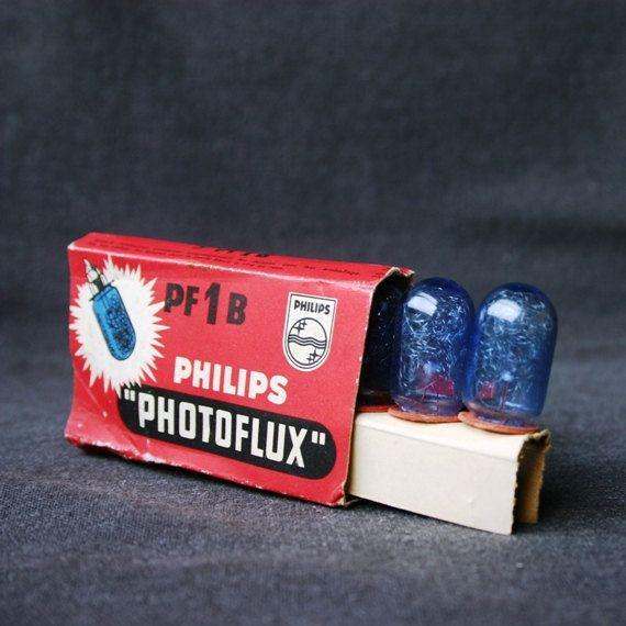 Photoflux blauwe bollen.  Vintage fotografie lichten.