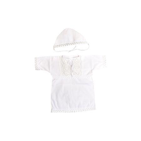 Baby Nice Крестильный набор:кофточка + чепчик, Baby Nice, 0-3 мес.  — 799р.  Крещение  - важное событие в жизни ребенка и его родных. Сделать его торжественней поможет нарядный крестильный набор. Предметы одежды для детей при этом должны быть качественными и безопасными. Набор из рубашки и чепчика из натурального дышащего хлопка, приятного на ощупь. Он не вызывает аллергии, что особенно важно для малышей. Отделаны предметы изысканным кружевом ручной работы. Набор сшит из высококачественных…