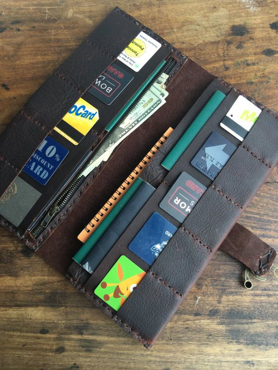 Arundel Leather Wallet / Large Leather Clutch Wallet / Handmade Leather Wallet / Bordeaux Clutch Purse Hand Sewn Custom Made