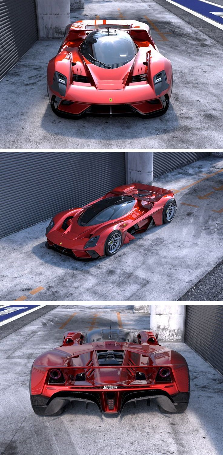 The Ferrari F399 Concept Was Created By Automotive Designer As A Hypothetical Blend Of An F1 Lemans Racer And A Hypercar In 2020 Lamborghini Concept Ferrari Car Guys