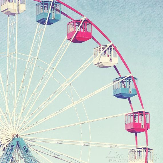 The Wheel  Seaside Park NJ Ferris Wheel Wall by LisaBonowiczPhotos, $40.00