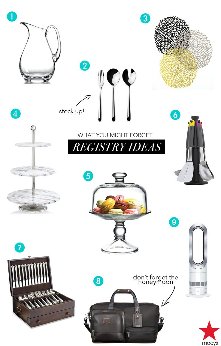 1000 ideas about wedding gift registry on pinterest for Things to put on your wedding registry