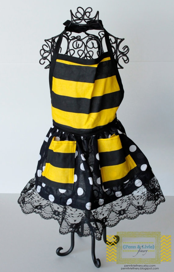 The Macy Childrens Apron Bumble Bee By PennLivieFinery On Etsy Bumblebee