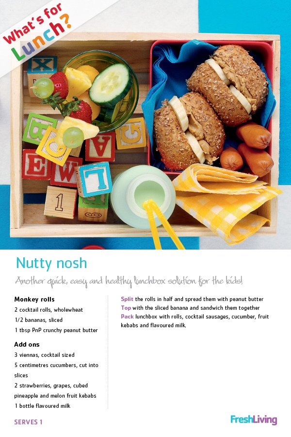 Another quick, easy and healthy lunchbox solution for the kids! #lunch #nuts #fruit #picknpay #dailydish