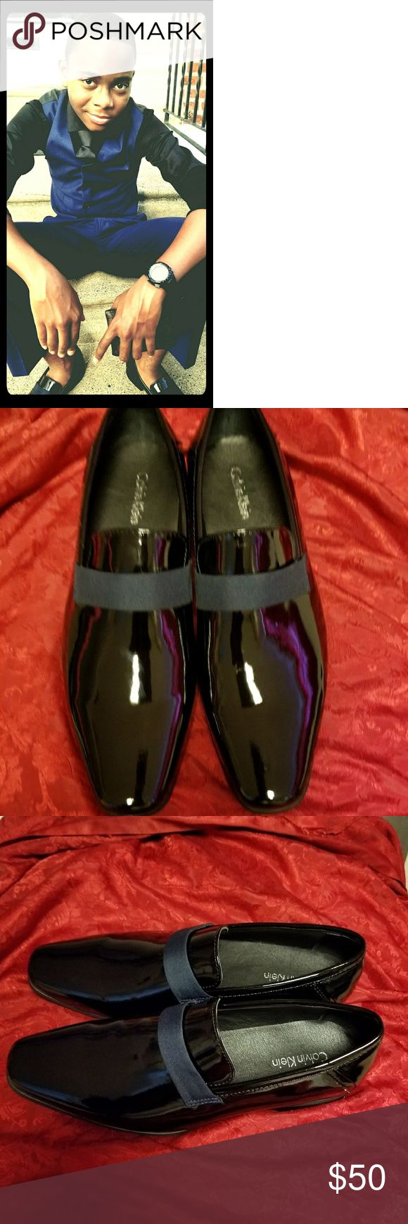 Men's Calvin Klein Patent Leather Shoes size 8.5 Black Patent Leather Shoes ...I only wore them once, when I was on a date with mom-dukes  Calvin Klein Shoes Loafers & Slip-Ons