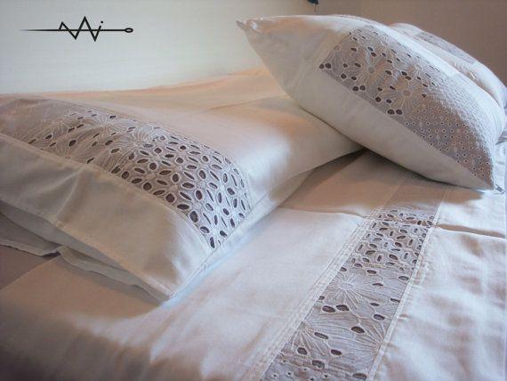 SANGALLO BEDDING  wedding bedding set  double bed sheet by zigzAgi,