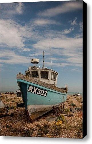 Fishing Boat Canvas Print / Canvas Art - Artist Dawn OConnor by Fine Art America, http://www.amazon.com/gp/product/B009LANDMM/ref=cm_sw_r_pi_alp_srPOqb1A7Y3WD