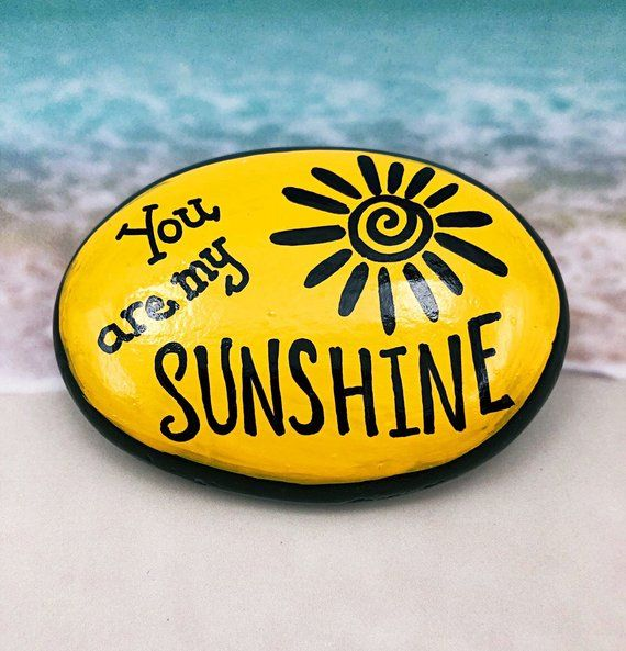 You Are My Sunshine, Encouragement Rock, Affirmation Stone, Hand Painted Rock, Christmas gift, Teacher gift, stocking stuffer – Kim Lasher-Hegadorn