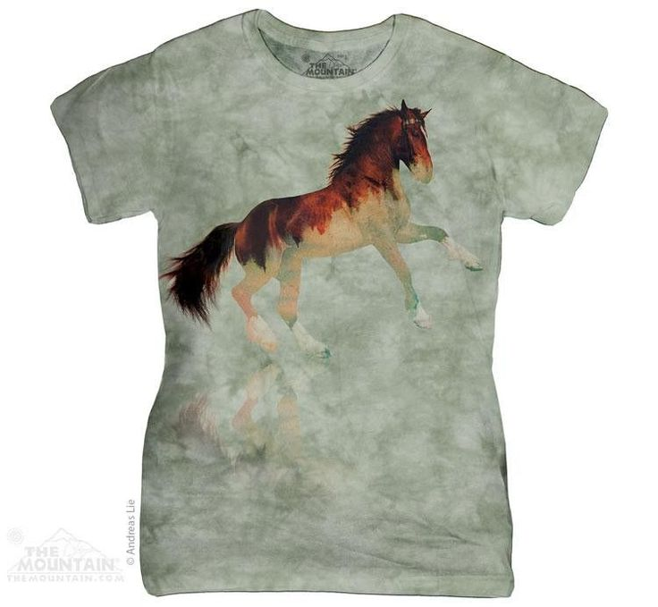 Dazzle your friends with the stylish Forest Stallion Womens T-Shirt from  The Mountain. Shop our huge selection of animal tees and wear one every day  of the ...