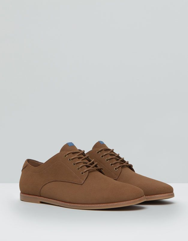 Pull&Bear - homme - chaussures homme - chaussures slim - taupe - 17465012-I2015