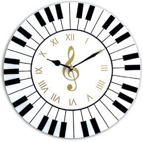 Musical piano clock.