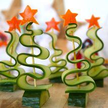 Bento Kerstmis kerstboom komkommer