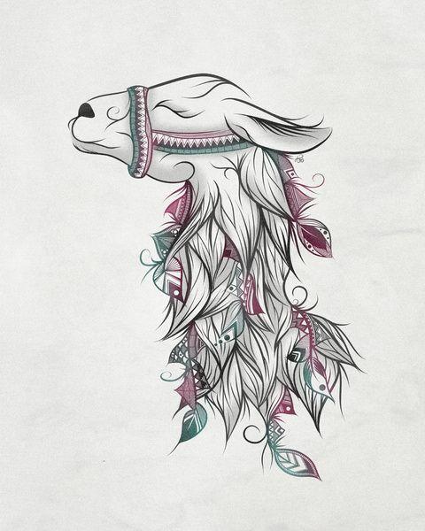 Llama Art Print by LouJah | Society6