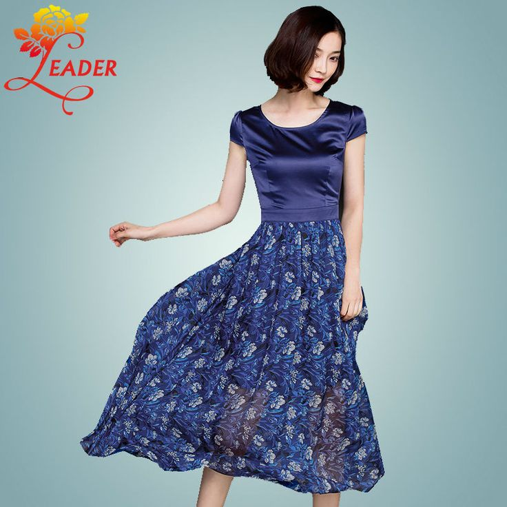 Women Summer Maxi Dress 2016 Plus Size Silk Satin Elegant Long Boho Dresses Ladies Short Sleeve Floral Print Robe Femme Vestidos