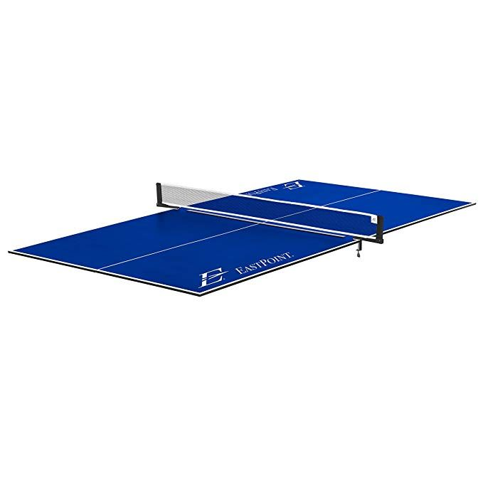 EastPoint Sports Foldable Table Tennis Conversion Top   Features No Assembly,  Easy Storage, And Complete With Net U0026 Post Set