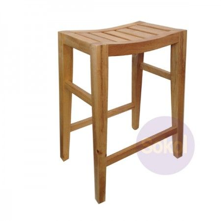 Concave Wooden 'Saddle' Bar Stool