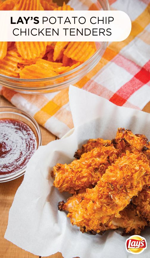 Who doesn't love munching on yummy finger foods at a backyard cookout? This summer, serve up these potato chip chicken tenders. The trick is to bread the chicken with crushed LAY'S hickory barbeque potato chips for bold flavor and an irresistibly crunchy bite. Click for the full recipe!