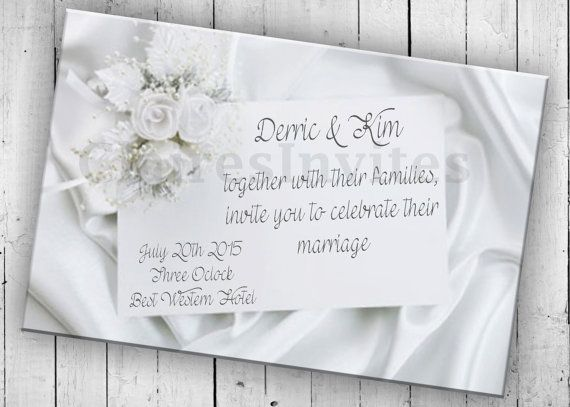 Bridal Invitation Printable Wedding by PartyPrintableInvite