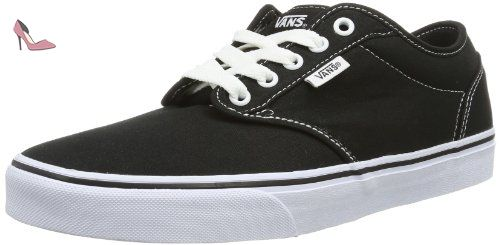 Vans Atwood, Sneakers Basses homme, Noir (Canvas/Blk/Wht), 48 EU (13 UK)
