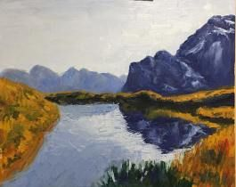 Learn To Paint This Beautiful New Zealand Mountain Landscapes In Oils