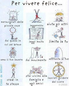 For a happy life, in Italian :)