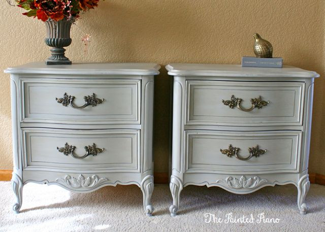 Gray nightstands ASCP Paris Grey with Coco wash